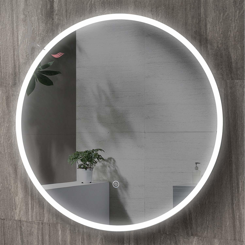 Runder Bad Spiegel Led Beleuchtet 60cm Rund Cottbus Licht Im